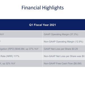 1Q決算は好調だったものの Anaplan, Inc. (PLAN) 2021年度1Q決算を振り返る
