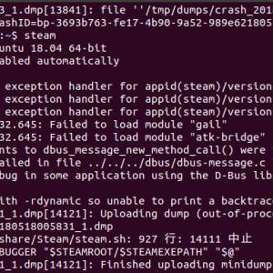 Ubuntu18.04でSteamがクラッシュする