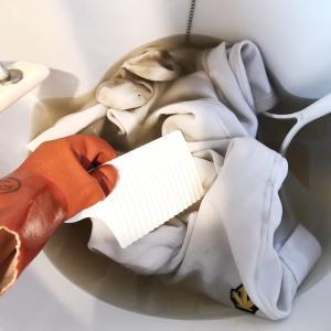 ヤバい泥汚れにはオキシクリーン+洗濯板が最強