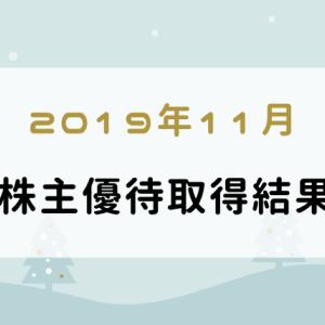 【2019年11月】株主優待取得銘柄:楽天証券の優待クロスでかかった費用