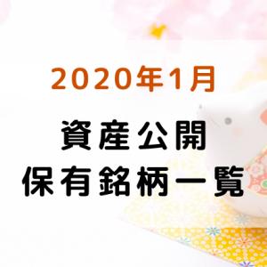 【2020年1月】資産公開・保有銘柄一覧