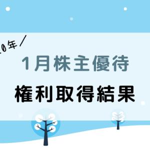 【2020年1月】株主優待の権利取得結果まとめ