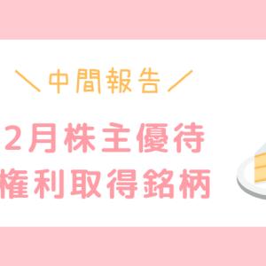 【2020年2月株主優待】現物・クロス取得状況:中間報告