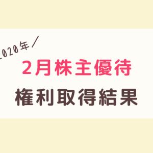 【2020年2月】株主優待の権利取得結果まとめ