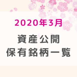 【2020年3月】含み損100万超え!!資産公開・保有銘柄一覧