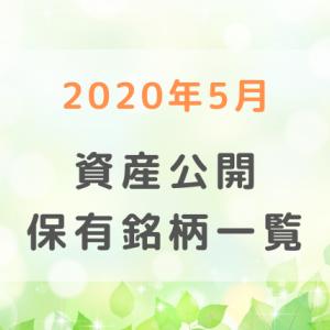 【2020年5月】資産評価額・保有銘柄一覧