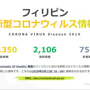 【Philinter】フィリピンの新型コロナウイルス感染者数など(5/12時点)