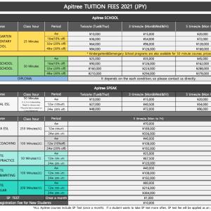 【APITREE】料金表改訂のお知らせ