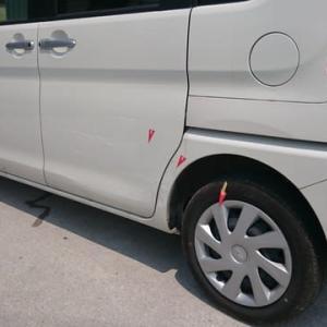 車の修理(ダイハツ タント)