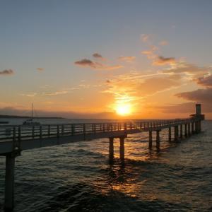 沖縄リベンジ旅行@ブセナテラスのシーフードレストランで夕日を見ながらディナー♪