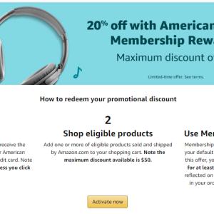 Amex限定 アマゾン 50ドルオフ
