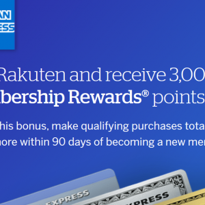 Rakuten 登録で3,000Amexポイント
