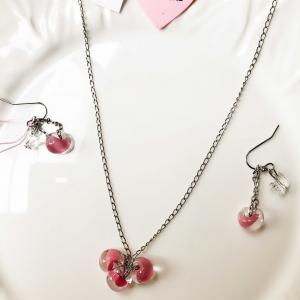 Teardrop Beads(made in U.S.A)ネックレス&ピアス