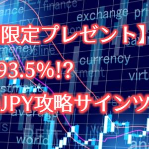 【期間限定プレゼント】勝率93.5%!?USDJPY攻略サインツール