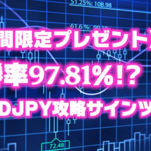 【期間限定プレゼント】勝率97.81%!?AUDJPY攻略サインツール