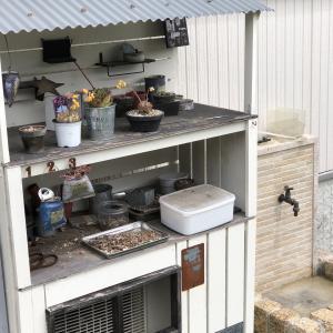 多肉棚兼室外機カバーをDIY