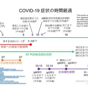 COVID-19症状の時間経過図(日本語版)