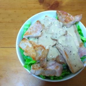 味噌豚ヨーグルト丼