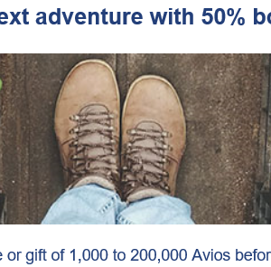 ブリティッシュエアウェイズがAvois購入50%ボーナスセール(最大単価2.0円!)