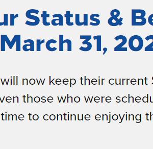 ヒルトン:ステータスが2023年3月まで延長維持!COVID-19を受けた2022年対応発表!