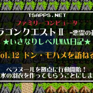 ドラクエ2ファミコン版(12)水の羽衣を織ってもらうためテパの村へ!☆『DQ2(FC)いきなりレベルMAX日記』