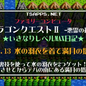 ドラクエ2ファミコン版(13)水の羽衣を2つゲットしたら満月の塔へ!☆『DQ2(FC)いきなりレベルMAX日記』