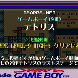 誰もが知る超名作テトリスの最終面をスーパーゲームボーイでプレイ☆『ゲームボーイ プレイ動画』