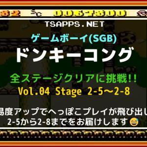 GBの名作・ドンキーコングをSGBで全面攻略!(04)ステージ2-5~2-8☆『ゲームボーイ プレイ動画』