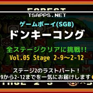 GBの名作・ドンキーコングをSGBで全面攻略!(05)ステージ2-9~2-12☆『ゲームボーイ プレイ動画』