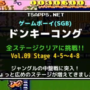 GBの名作・ドンキーコングをSGBで全面攻略!(09)ステージ4-5~4-8☆『ゲームボーイ プレイ動画』