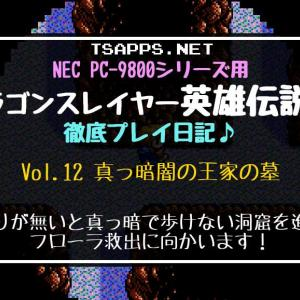 PC-98版英雄伝説2攻略(12)フローラ救出!ボスの倍返し攻撃に要注意☆『ドラゴンスレイヤー英雄伝説2 徹底プレイ日記』