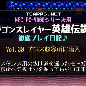 PC-98版英雄伝説2攻略(30)モーガンの力を借りてプロス収容所へ潜入☆『ドラゴンスレイヤー英雄伝説2 徹底プレイ日記』