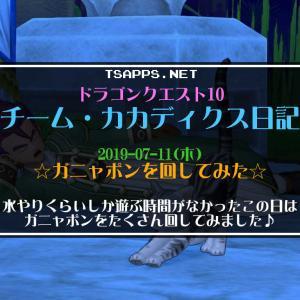 【ドラクエ10】チーム・カカディクス日記≪2019-07-11≫ガニャポンを初めて回してみた♪ツールでは無料100連ふくびきも!