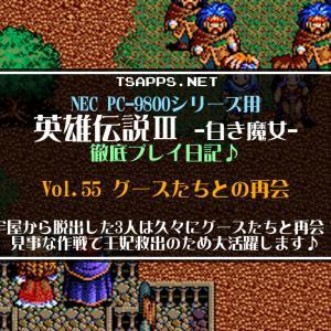 【PC-9801】英雄伝説3 白き魔女 徹底プレイ日記☆Vol.55・グースたちとの再会!見事な作戦で王妃救出のために大活躍してくれます♪