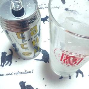 【グラスに氷を入れてcanチューハイ飲んでみた】
