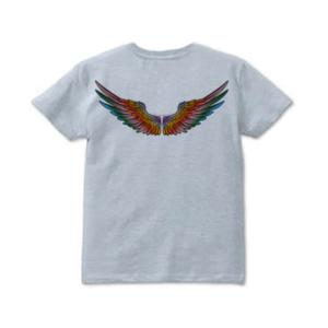 背中の翼はクレージーカラー バックプリントTシャツ(Crazy color wing)