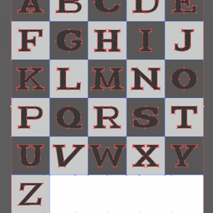 ロゴ素材 直線的なセリフ 1(Technic Serif Style logo)