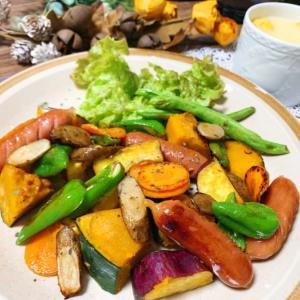 盛り盛り焼き野菜ブランチワンプレート♪