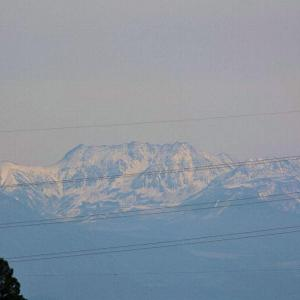 立山の初冠雪