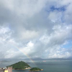 今朝の虹~!と久々の飲茶「翠湖海鮮飯店」