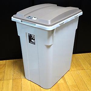 溜め水用タンクをガラス水槽からゴミ箱に変更