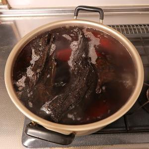 沈まない流木、煮沸のコツ