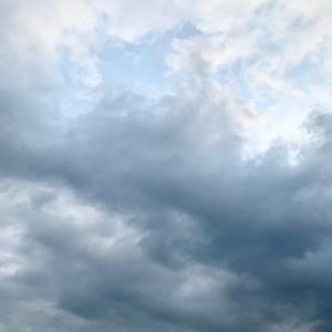 5時起き曇り空ライド