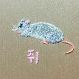 ハングル動物刺繍 ㅈ