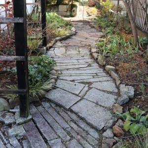 日陰ガーデンの通路