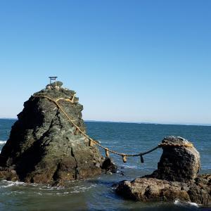 夫婦岩と伊勢神宮