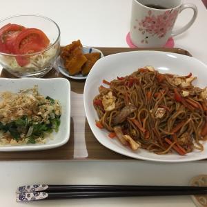 常備菜を使った夕食