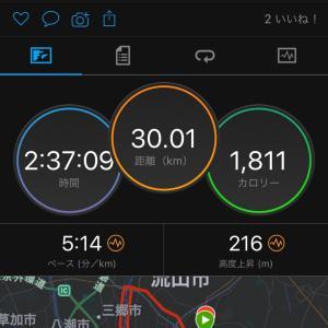 10/16  30km JOG   江戸川サイクリングロードの状況 まだバイクで走れなそう