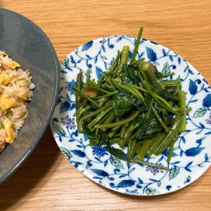 空心菜の炒め物と茎ブロッコリーの思い出