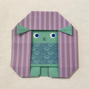 折り紙でアマビエ(2)